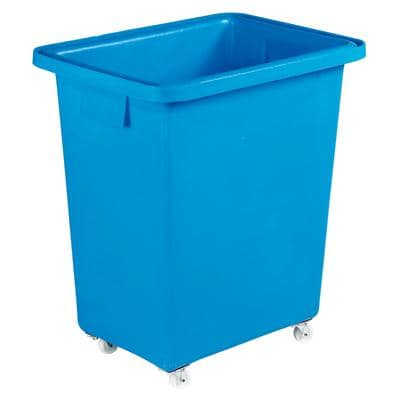 Slingsby 130 litre mobile plastic container with smooth interior – blue