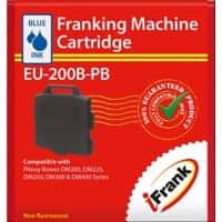 iFrank Franking Machine Ink Cartridge EU-200B-PB for Pitney Bowes DM200, DM225, DM250, DM300, DM400 Red Ink