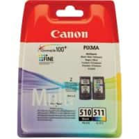 Canon PG-510/CL-511 Original Ink Cartridge Black & 3 Colours 2 Pieces