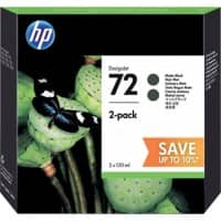HP 72 Original Ink Cartridge P2V33A Matte Black Pack of 2