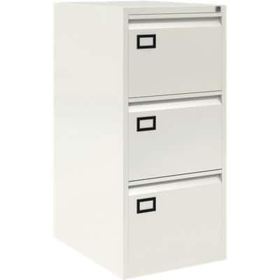 Bisley Filing Cabinet AOC White 470 x 622 x 1,016 mm Steel