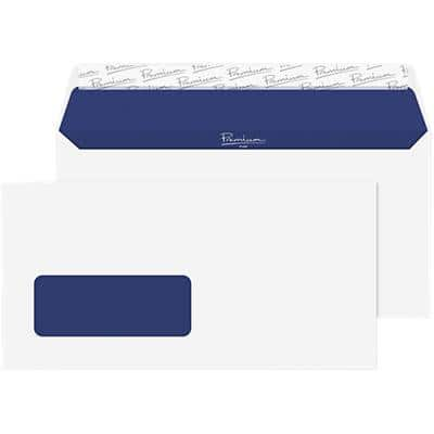 Blake Super White Wove Window Envelope Peel and Seel DL 110x220mm 120gsm Pack 500