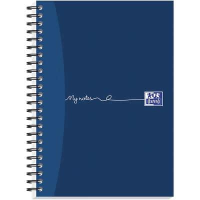 OXFORD My Notes A5 Wirebound Blue Hardback Notebook Ruled 200 Pages Pack of 3
