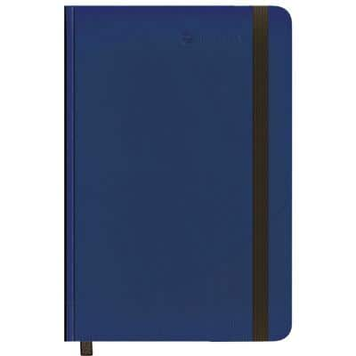 Foray Classic A4 Casebound Navy Blue Hard Cover Notebook Ruled 160 Pages