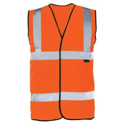 Alexandra Waistcoat PU Coated Polyester M Orange