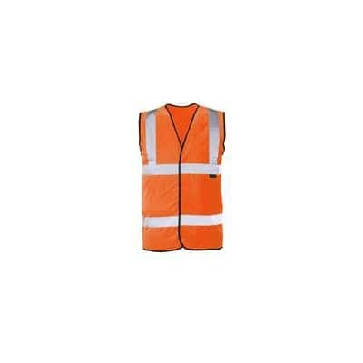 416534404cae5 Be seen and be safe with our orange Hi-vis waistcoat in extra extra large.  Conforms to EN471  Class 2 safety standards