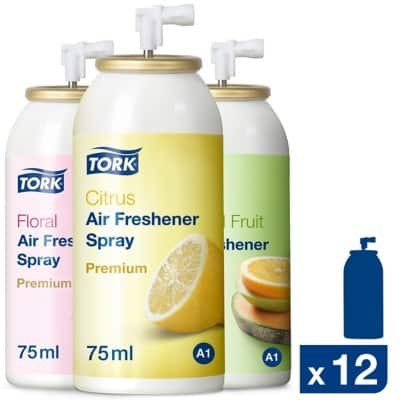 Tork Air Freshener Premium Mixed Pack Citrus 12 Pieces of 75 ml