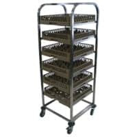 Craven Dishwasher Basket Trolley 173.6 x 112 x 56.5cm Stainless Steel