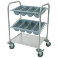Craven Cutlery and Tray Dispense Trolley 79.1 x 40 x 82cm Stainless Steel