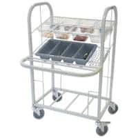 Craven Mobile Condiment & Cutlery Dispense Trolley 46 x 77 x 119.4cm Stainless Steel