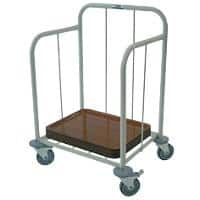 Craven Tray Dispense Trolley 62.5 x 49.5 x 84cm Stainless Steel
