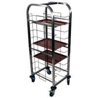 Craven Tray Clearing Trolleys 48.5 x 57.8 x 134.3cm Stainless Steel 10 Levels
