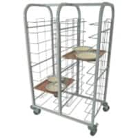 Craven Tray Clearing Trolleys 87.5 x 57.8 x 156.3cm Stainless Steel 12 Levels