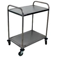 Craven Trolley 2 Tier General Purpose 77.6 x 52.1 x 92.4cm Stainless Steel