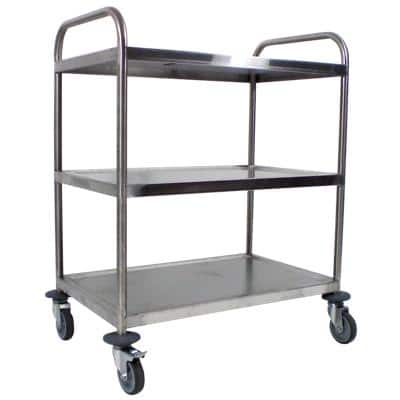 Craven Trolley 3 Tier General Purpose 77.6 x 52.1 x 92.4cm Stainless Steel