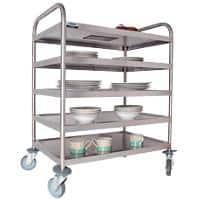 Craven Trolley 5 Tier General Purpose 97 x 67 x 100cm Stainless Steel