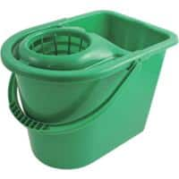 Bentley Bucket with Wringer Plastic Green 15L