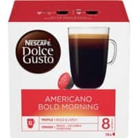 NESCAFÉ Dolce Gusto Americano Bold Morning Coffee Pods Pack of 16
