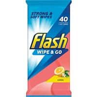 Flash Wet Cleaning Wipes Lemon 40 Pieces