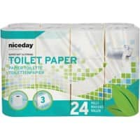 Highmark Toilet Rolls Standard 3 Ply 24 Rolls of 250 Sheets