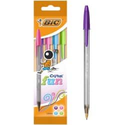 BIC Ballpoint Pen 895792 Pink / Purple / Turquoise / Lime Pack 4