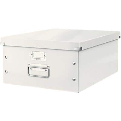 Leitz Click & Store WOW Storage Box A3 Laminated Cardboard White 369 x 482 x 200 mm