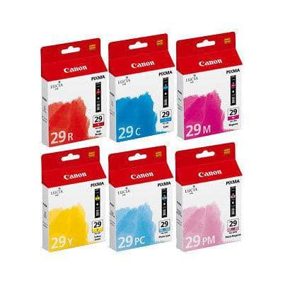 Canon PGI-29C/M/Y/PC/PM/R Original Ink Cartridge 6 Colours Pack of 6