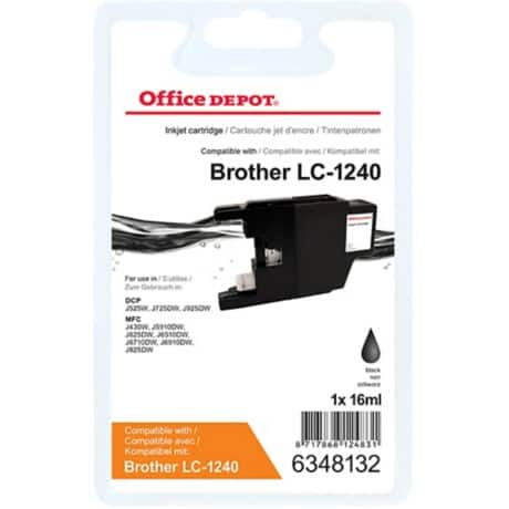 Office Depot Compatible Brother LC1240BK Ink Cartridge Black