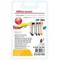 Office Depot Compatible HP 364 Ink Cartridge SD534EE Black & 3 Colours Pack of 4