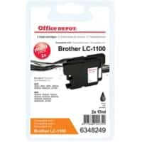 Office Depot Compatible Brother LC1100BK Ink Cartridge Black Pack of 2