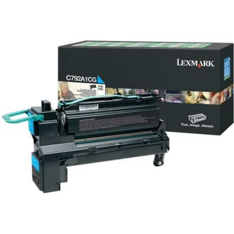 Lexmark C792A1CG Original Toner Cartridge Cyan