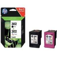 HP 302 Original Ink Cartridge X4D37AE Black, Cyan, Magenta, Yellow 2 Pieces