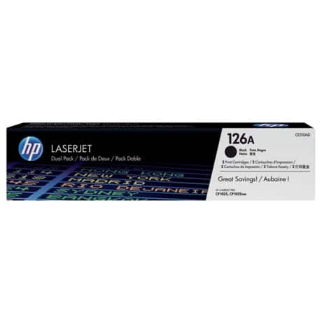 HP 126A Original Toner Cartridge CE310AD Black 2 Pieces