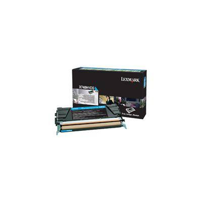 Lexmark X748H1CG Original Toner Cartridge Cyan