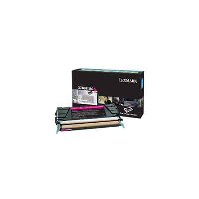 Lexmark X748H1MG Original Toner Cartridge Magenta
