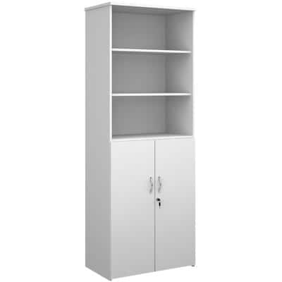 Dams International Combination Unit with Lockable Door and 3 Shelves Universal 800 x 470 x 2140 mm White