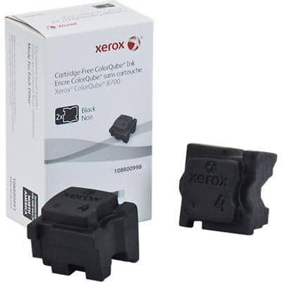 Xerox 108R00998 Original Solid Ink Stick Black Pack of 2