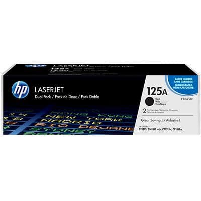 HP 125A Original Toner Cartridge CB540AD Black Pack of 2