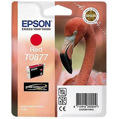 Epson T0877 Original Ink Cartridge C13T08774010 Red