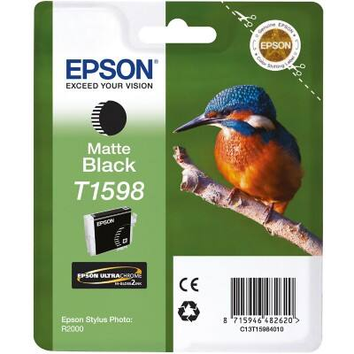 Epson T1598 Original Ink Cartridge C13T15984010 Matte Black