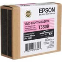 Epson T580 Original Ink Cartridge C13T580B00 Light Magenta