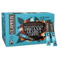 Clipper Organic Arabica Instant Coffee Sachets Freeze Dried 200 Pieces