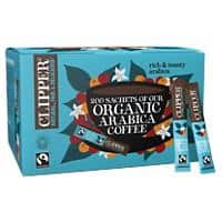 Clipper Organic Arabica Instant Coffee Sachets Freeze Dried Pack of 200