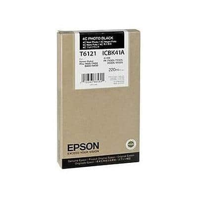 Epson T6121 Original Ink Cartridge C13T612100 Photo Black
