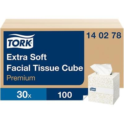 Tork Facial Tissue Box 140278 2 Ply 100 Sheets