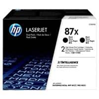 HP 87X Original Toner Cartridge CF287XD Black 2 Pieces