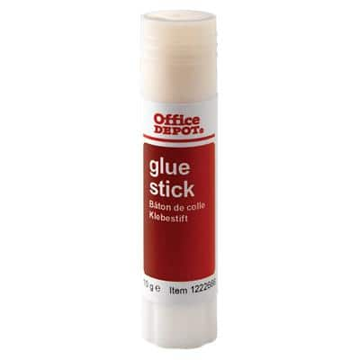 Office Depot Glue Stick White, Red 10g Pack of 36 Transparent