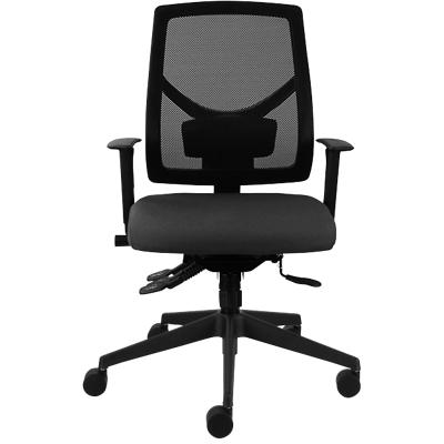 MDK Office Seating Basic Tilt Ergonomic Office Chair with 3D Armrest and Adjustable Seat Fabric ME500 Black