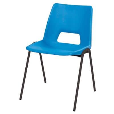 Advanced Furniture Stacking Chair Harmony Blue Shell Black Frame 310mm Height Pack of 4