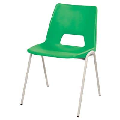 Advanced Furniture Stacking Chair Harmony Green Shell Grey Frame 430mm Height Pack of 4